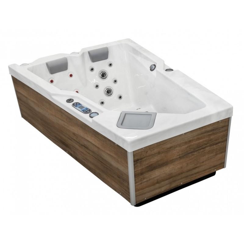 hydromasážní luxusní spa OK1 AMETHYST pro 2 osoby kde masáž zajišťuje 38 trysek, z toho 22 z nich je hydromasážních, 10 blower