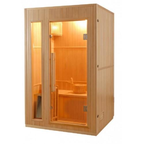 finská sauna ZEN 2 se hodí do interiéru rodinného domu i bytu.