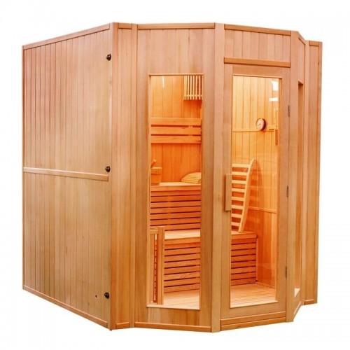 elegantní domácí finská sauna Zen 4 je navržena až pro 4 osoby a vyrobena z kvalitního dřeva kanadského jedlovce
