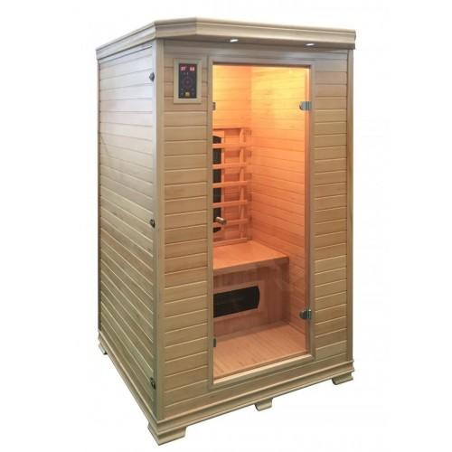 luxusní infrasauna GARDE Infrasauna má vnitřní i vnější obožení je vyrobeno z kanadského jedlovce a díky svému designu se skvěl