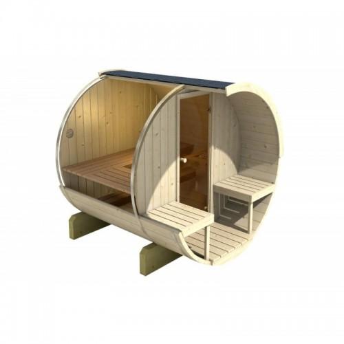 průřez - Sudová sauna 210 jpro 2 osoby