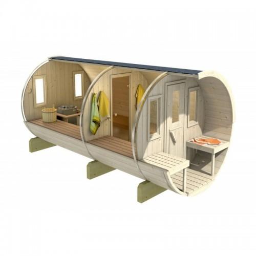 Sudová sauna 330 terras Thermowood průřez