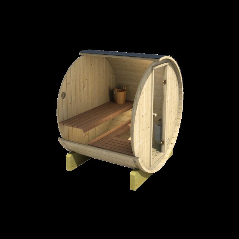 Sudová sauna 160 je vhodná pro privátní užití, ale i komerční provozy
