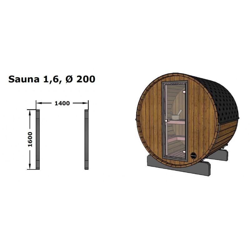 Sudová sauna 160 je vyrobena ze severského smrku, který má oproti klasickému vyšší hustotu dřeva