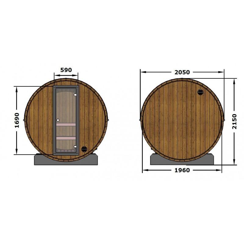 Sudová sauna 160 a její rozměry