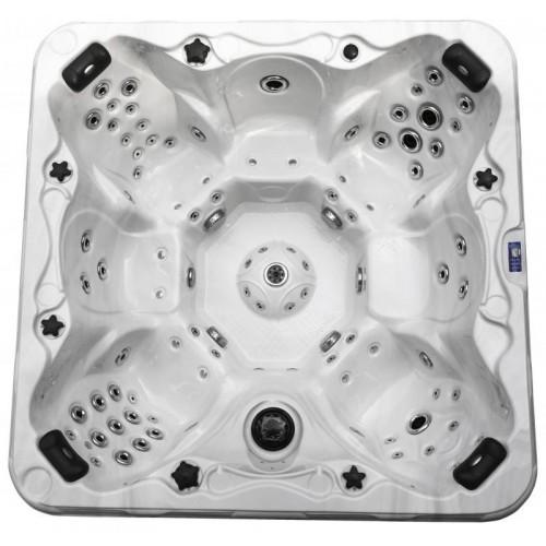 luxusní akrylátová vířivka CORONA pro 7 osob obsahuje také moduly s pro masáž chodidel
