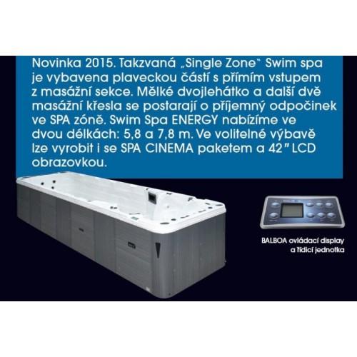 """luxusní akrylátová vířivka s protiproudem í BAZÉN ENERGY D-7.8 pro 4 osoby si můžete dovybavit SPA CINEMA paket s 42"""" LCD obraz"""