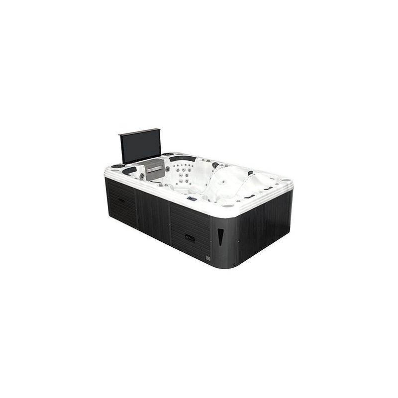 """hydromasážní luxusní spa SCRAFT CINEMA SPA pro 8 osobe vybavena s výsuvnou plochou 42"""" LCD obrazovkou a DVD přehrávačem"""